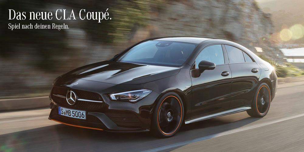 Mercedes-Benz CLA Coupé fahrend