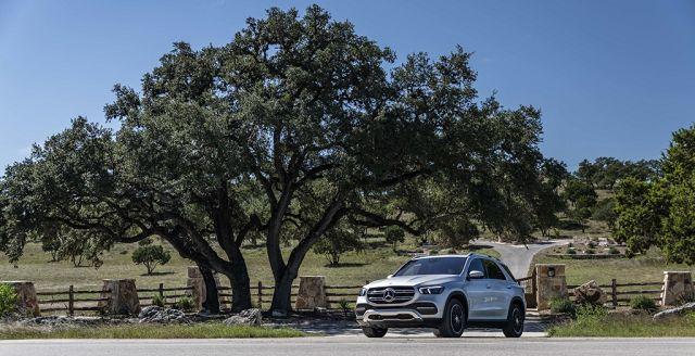 Foto Mercedes-Benz GLE 350 4MATIC, iridiumsilber, Leder tartufobraun/ designo Leder Nappa magmagrau/ schwarz
