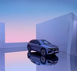 Der Mercedes-Benz EQA - Seitenansicht