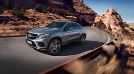 Mercedes-Benz GLE Coupé in voller Fahrt