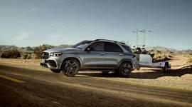 Der Mercedes-Benz GLE unterwegs