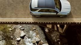 Der Mercedes Benz GLE von oben