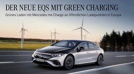 Foto Der Mercedes-Benz EQS in Fahrt