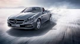 grauer Mercedes-Benz SLC